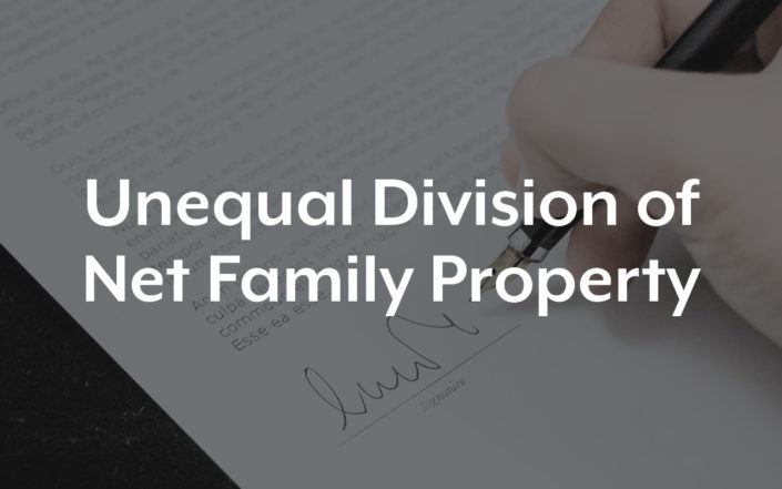 Unequal Division of Net Family Property